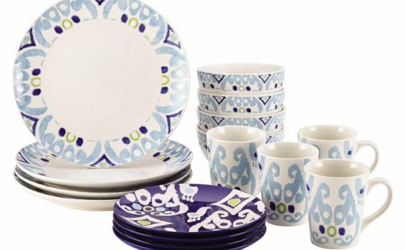 Dinnerware Ikat 16-Piece