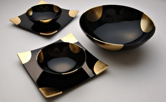 Gold Dining Set Large Bowl