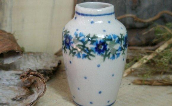 Polish Pottery Vase 6 cm