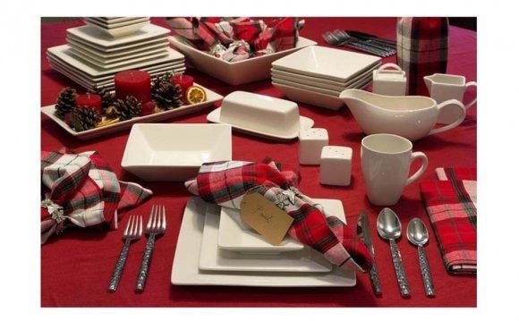 40 Piece Square Dinnerware Set