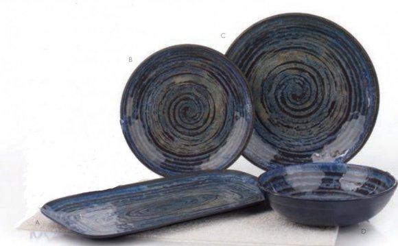Glaze Swirl Blue Glaze