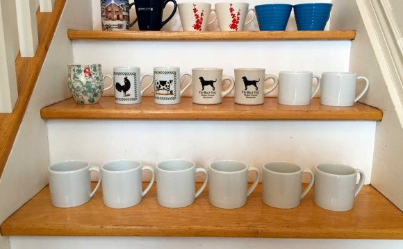 Kitchen mugs decluttering