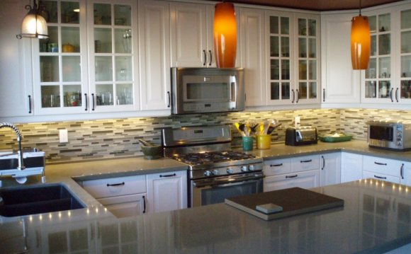 Long two sided glass kitchen