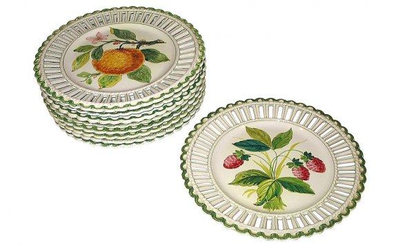 Italian Dessert Plates, S/9