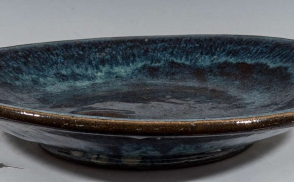 Blue Stoneware Charger 2