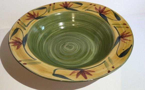 Hand Painted Stoneware 12
