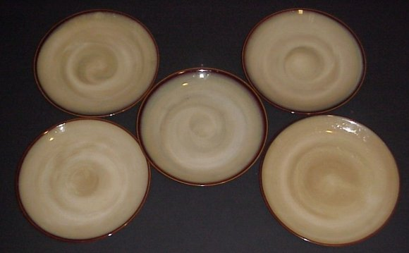 Sango Nova Brown Dinner Plates