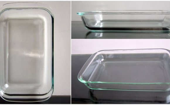 Glass baking dish can go in