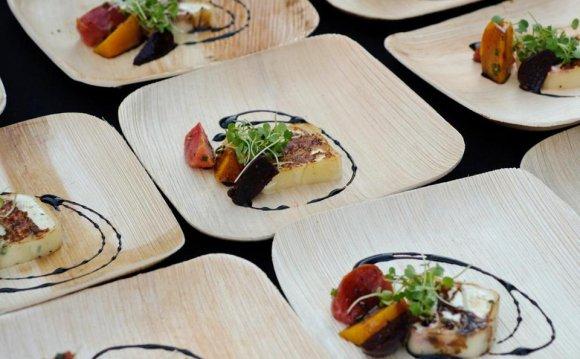 Stylish outdoor dinnerware