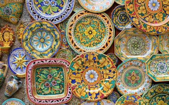 Typical souvenirs of Sicily