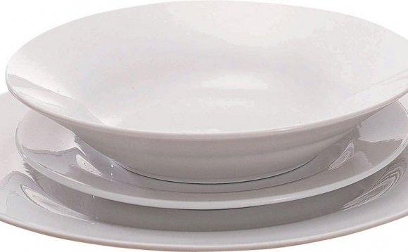 White Dinner Plates Set 12