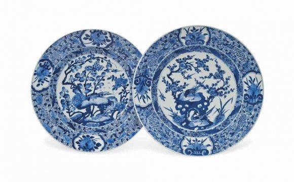 Blue and white Porcelain dishes