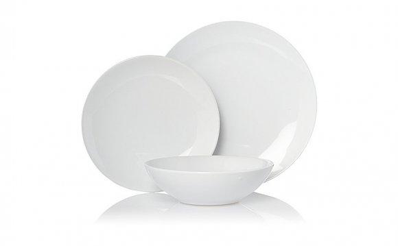 Square White Dinner Service Polish Tableware