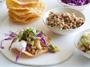 Fish and White Bean Tostadas