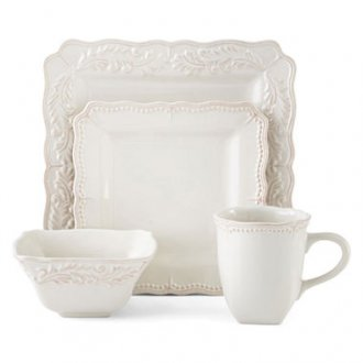 jcpenney.com | JCPenney Home™ Amberly 16-pc. Square Dinnerware Set