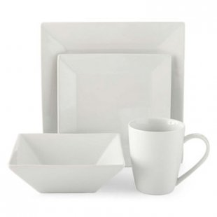 jcpenney.com | JCPenney Home™ Porcelain Whiteware 32-pc. Square Dinnerware Set - Service for 8