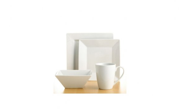Square White Dinnerware