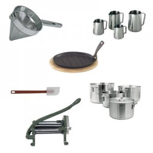 Small Wares in stock for any of your needs Ladles,  Skimmers,  Spoons,  China Caps,  and more
