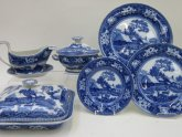 Blue and White Dinner Service